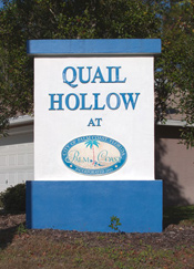 Quail Hollow monument sign - Palm Coast, FL